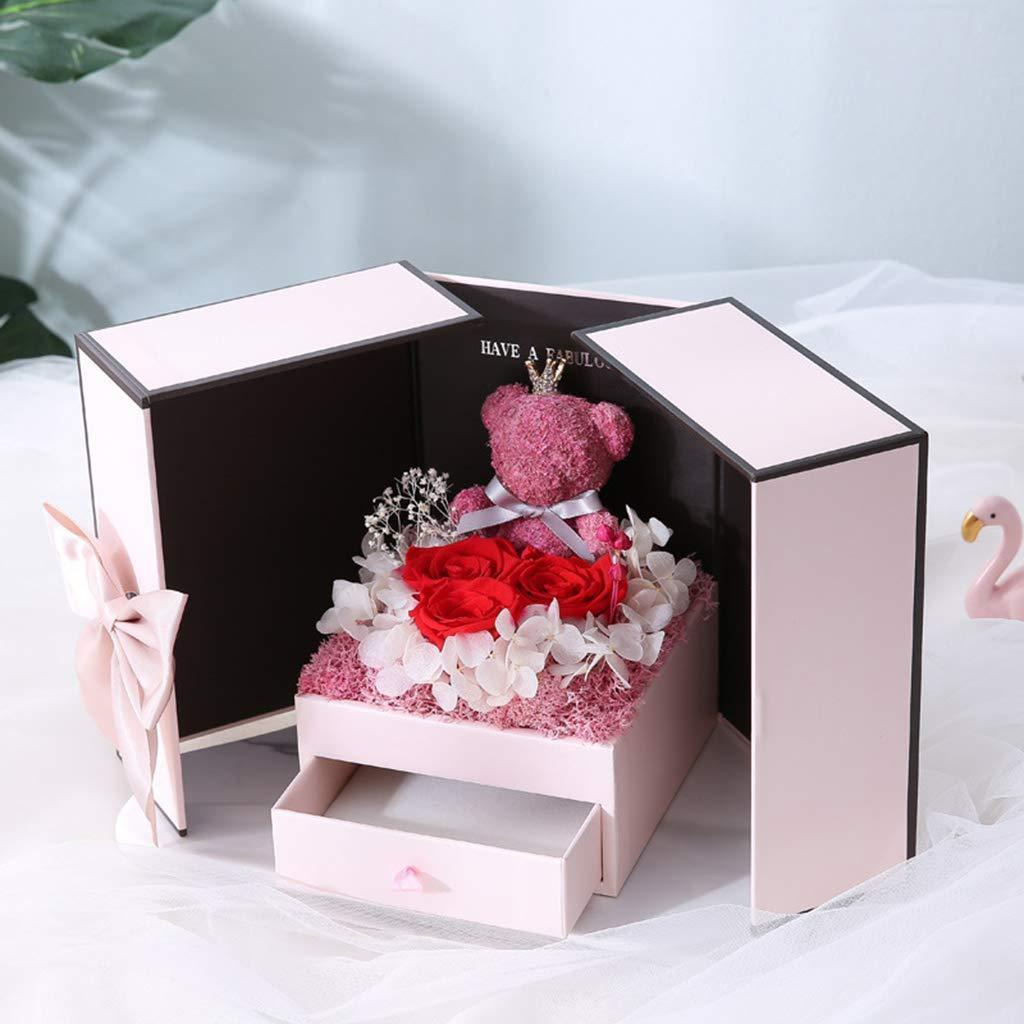 Preserved Rose Bear Gift Box