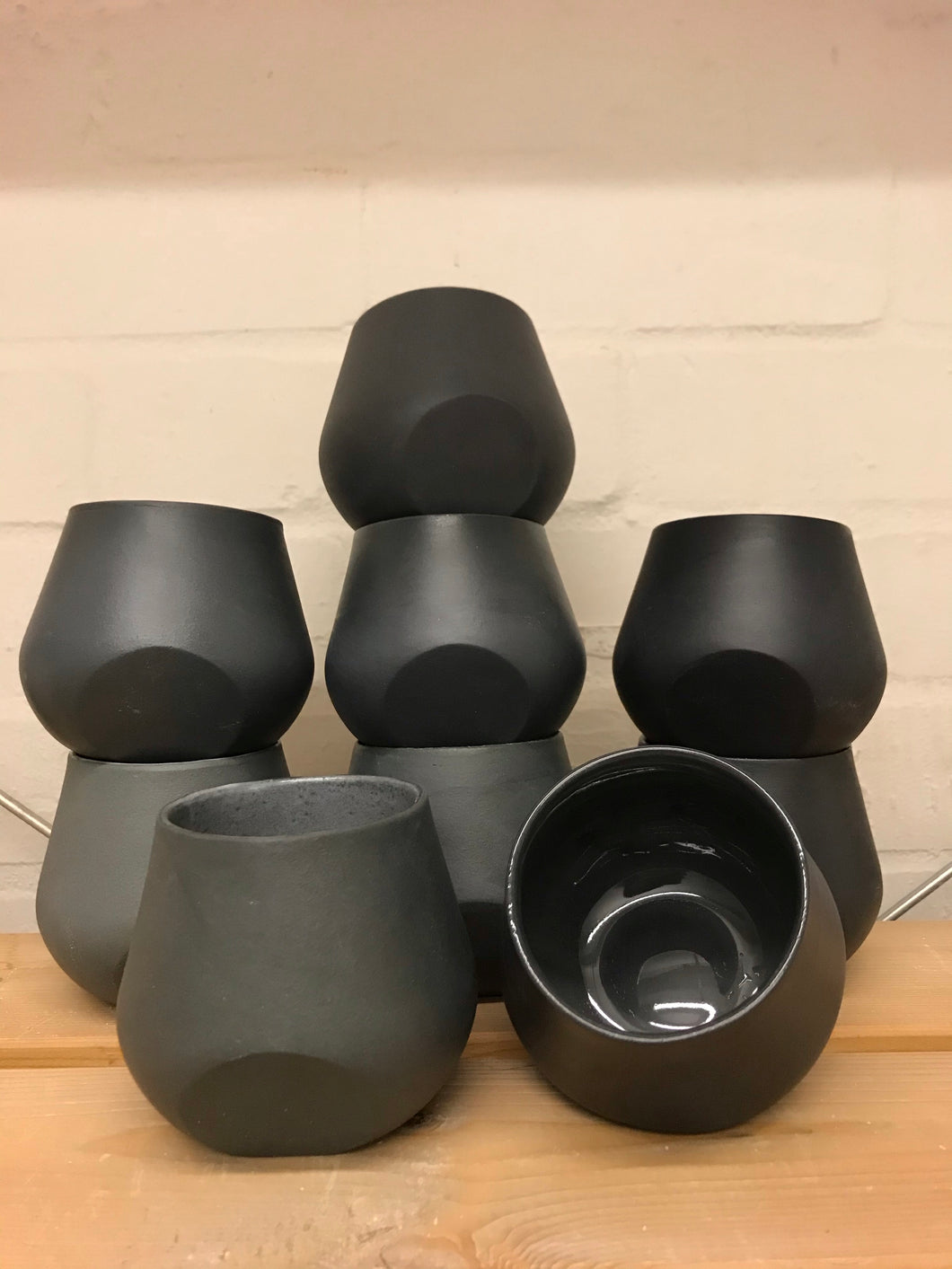 Seconds- Tilt cups in black or white
