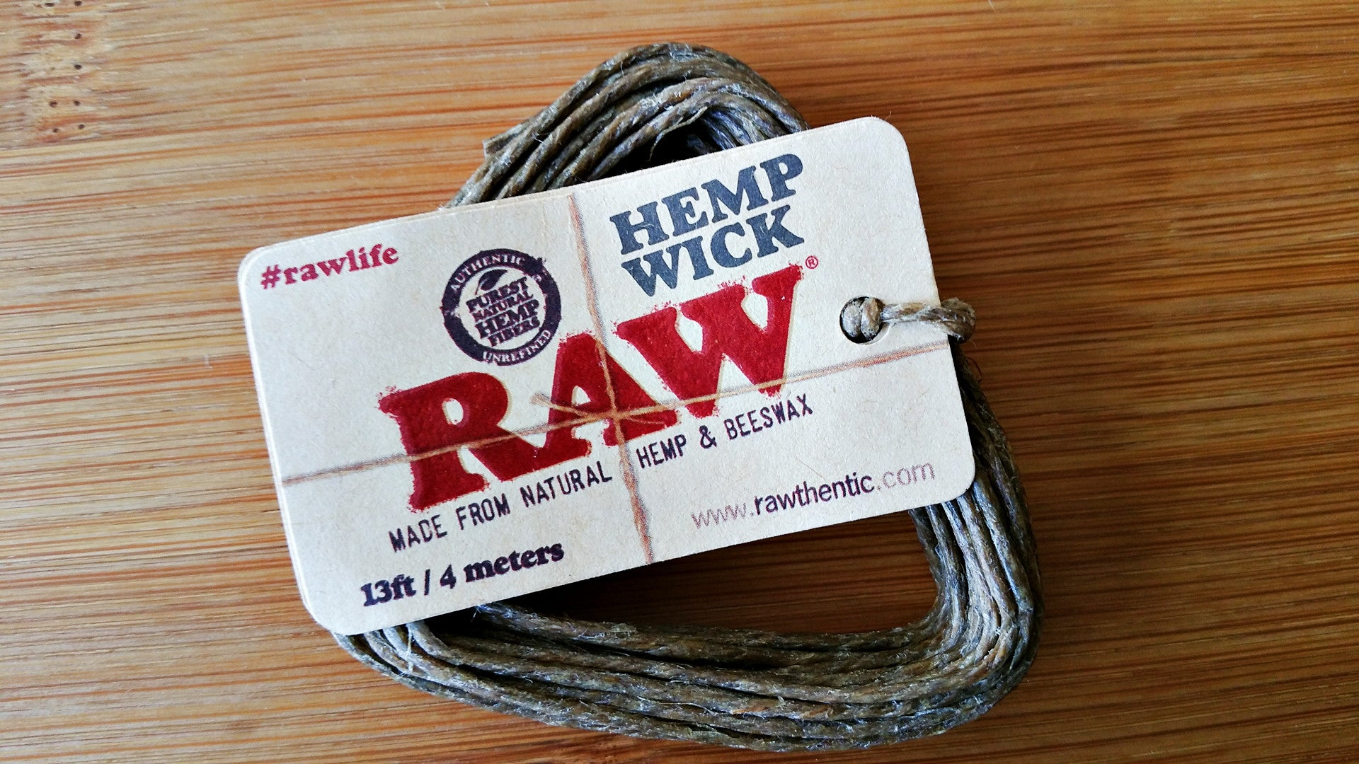 Hemp & Beeswax Wick 13ft / 4 Meter