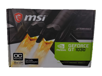 MSI GT 1030 2GB (Low-Profile Edition) Graphics Card (Grade SS) - Nerd Gearz