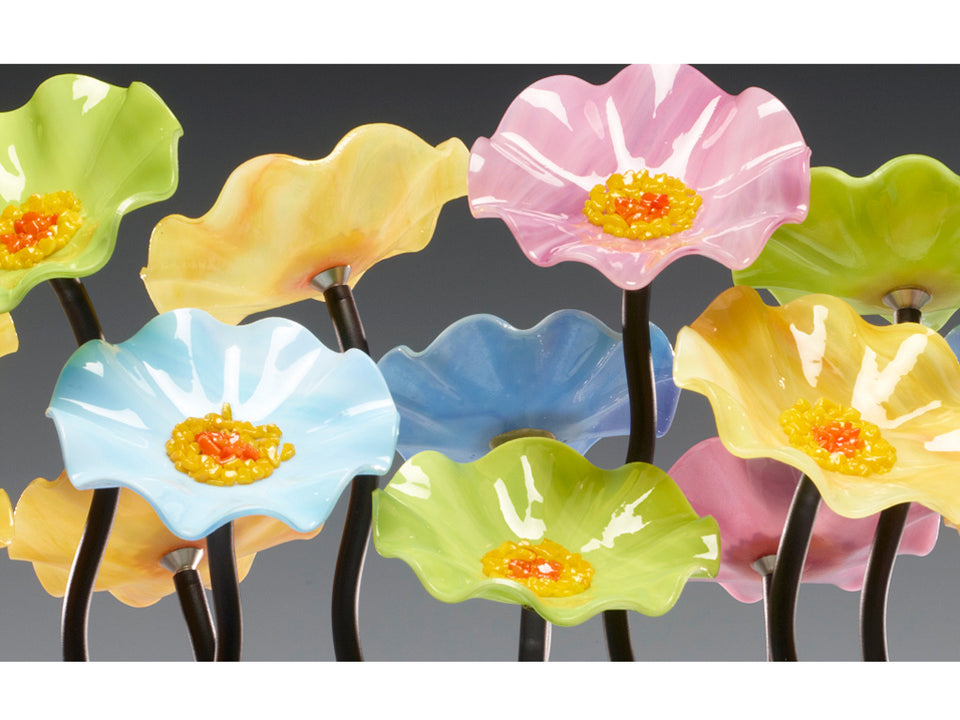 Load image into Gallery viewer, Floor Standing Cluster - Glass Flowers by Scott Johnson