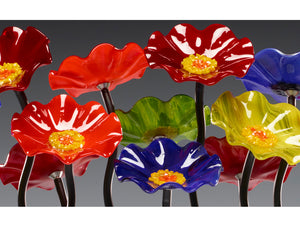5 Flower Rainbow - Glass Flowers by Scott Johnson