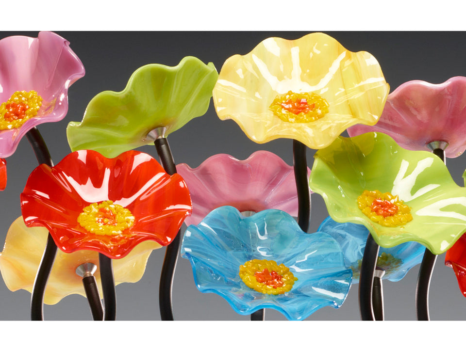 Load image into Gallery viewer, 5 Flower Beach - Glass Flowers by Scott Johnson