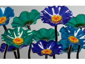 5 Flower Ocean - Glass Flowers by Scott Johnson