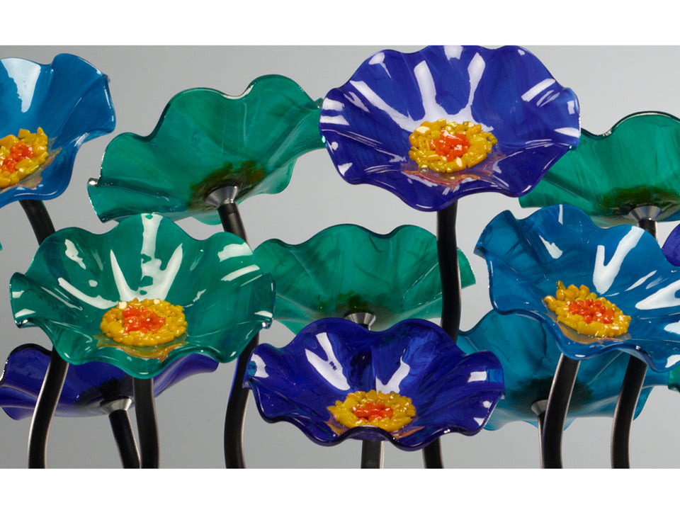 Load image into Gallery viewer, 5 Flower Ocean - Glass Flowers by Scott Johnson
