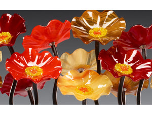 7 Flower Tuscany - Glass Flowers by Scott Johnson