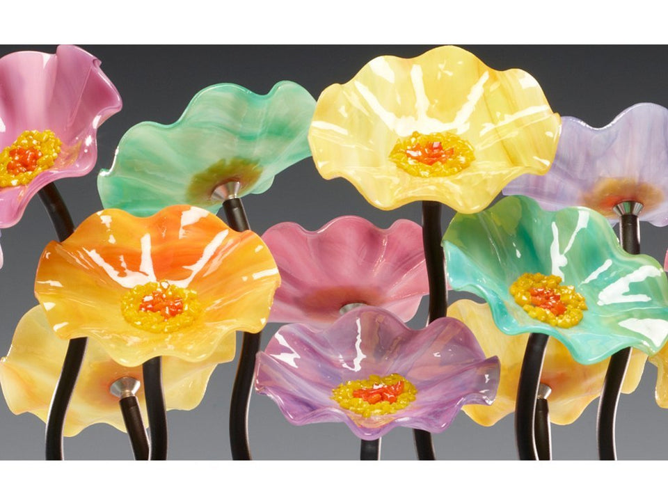 Load image into Gallery viewer, 9 flower Monsoon - Glass Flowers by Scott Johnson