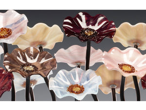 9 flower Venice - Glass Flowers by Scott Johnson