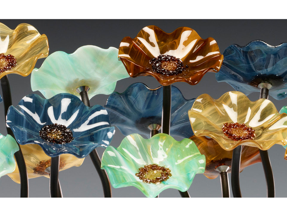 Load image into Gallery viewer, 10 Flower Garden - Sundrella - Glass Flowers by Scott Johnson