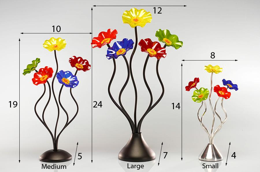 Load image into Gallery viewer, 5 Flower Prism - Glass Flowers by Scott Johnson
