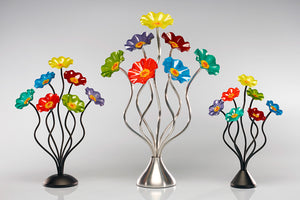 7 Flower Rainbow - Glass Flowers by Scott Johnson