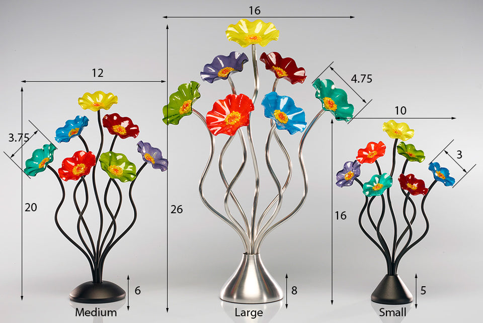 Load image into Gallery viewer, 7 Flower Prism - Glass Flowers by Scott Johnson