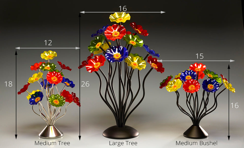 Load image into Gallery viewer, 15 flower tree Christmas - Glass Flowers by Scott Johnson