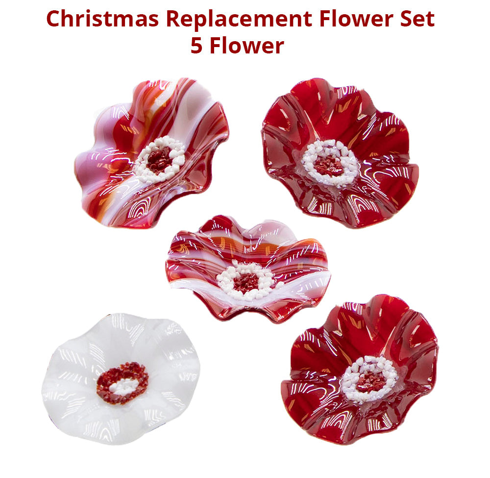 Christmas Replacement Flower Set - 5 Flowers