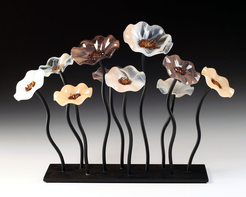 Load image into Gallery viewer, 10 Flower Garden - Lincolnshire - Glass Flowers by Scott Johnson