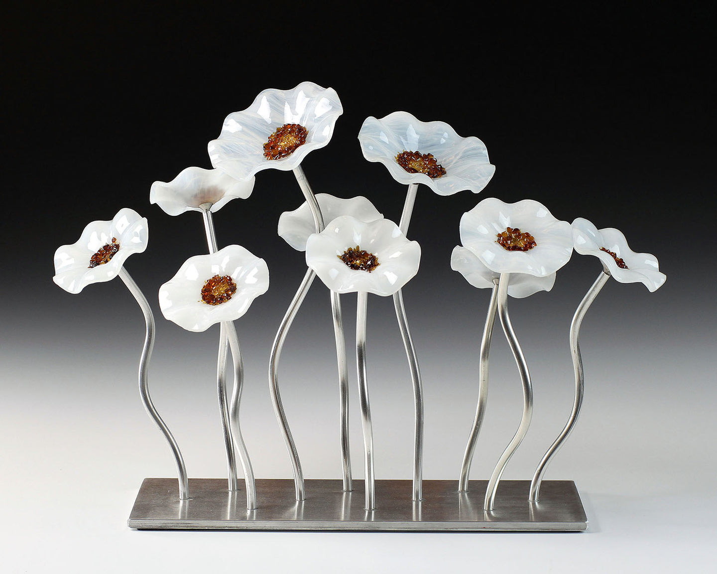 10 Flower Garden - Winter - Glass Flowers by Scott Johnson