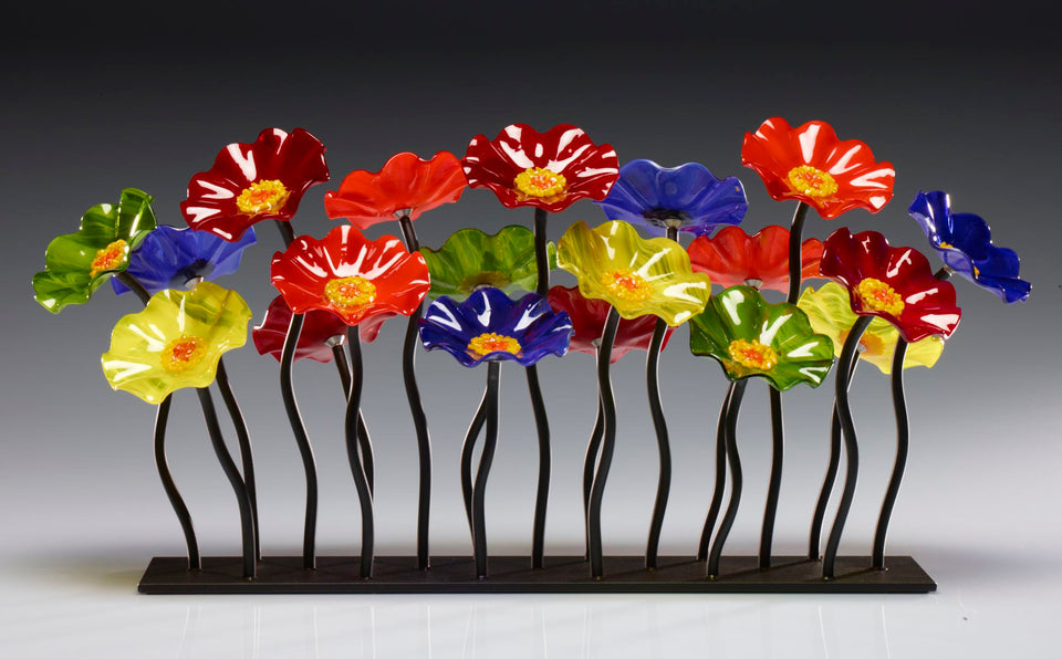 Load image into Gallery viewer, Garden 19 Rainbow 108 - Glass Flowers by Scott Johnson