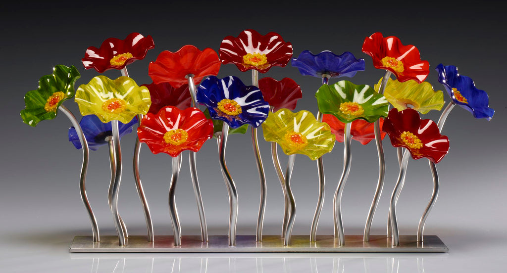Garden 19 Rainbow 108 - Glass Flowers by Scott Johnson