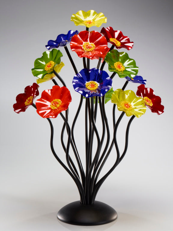 Load image into Gallery viewer, 15 flower tree Rainbow - Glass Flowers by Scott Johnson