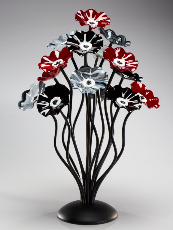 15 flower tree Black Cherry - Glass Flowers by Scott Johnson