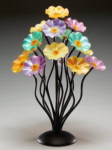 15 flower tree Monsoon - Glass Flowers by Scott Johnson