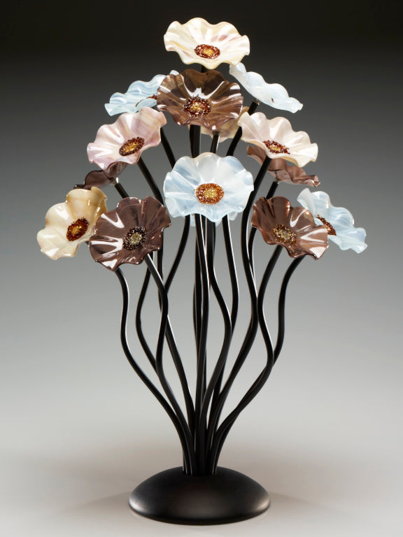 15 flower tree Naples - Glass Flowers by Scott Johnson