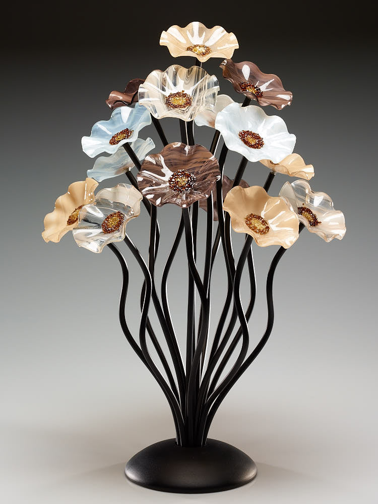 15 flower tree Lincolnshire - Glass Flowers by Scott Johnson