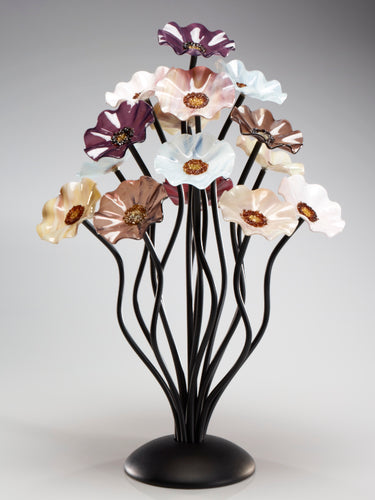 15 flower tree Venice - Glass Flowers by Scott Johnson