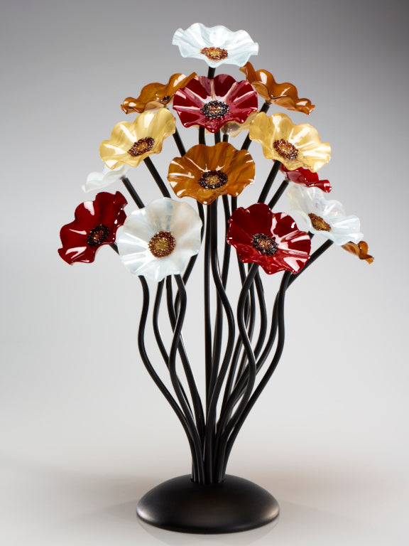 15 flower tree Marilyn - Glass Flowers by Scott Johnson