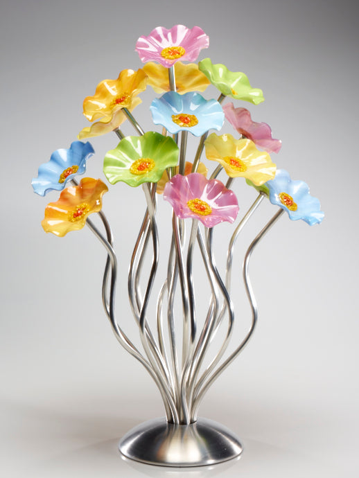 15 flower tree Pastel - Glass Flowers by Scott Johnson