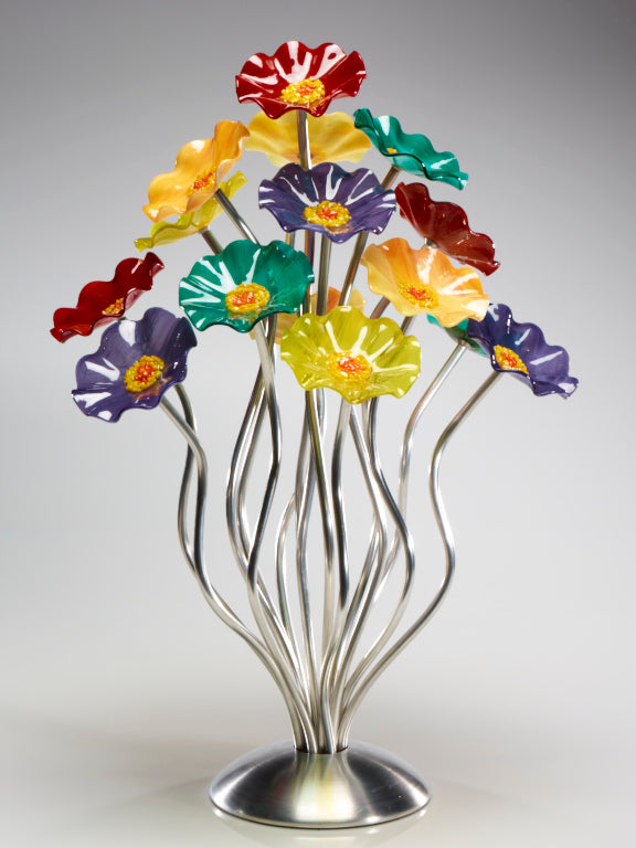 Load image into Gallery viewer, 15 flower tree Surprise - Glass Flowers by Scott Johnson