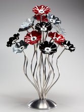 Load image into Gallery viewer, 15 flower tree Black Cherry - Glass Flowers by Scott Johnson
