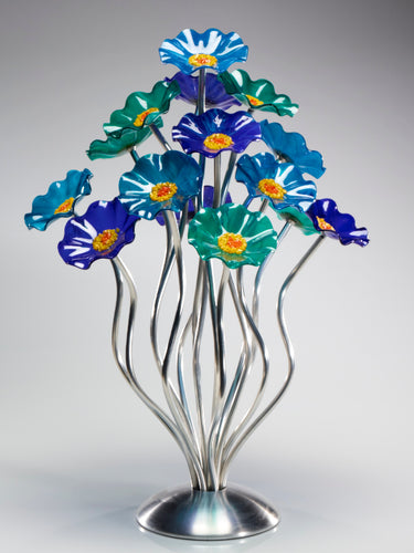 15 flower tree Ocean - Glass Flowers by Scott Johnson