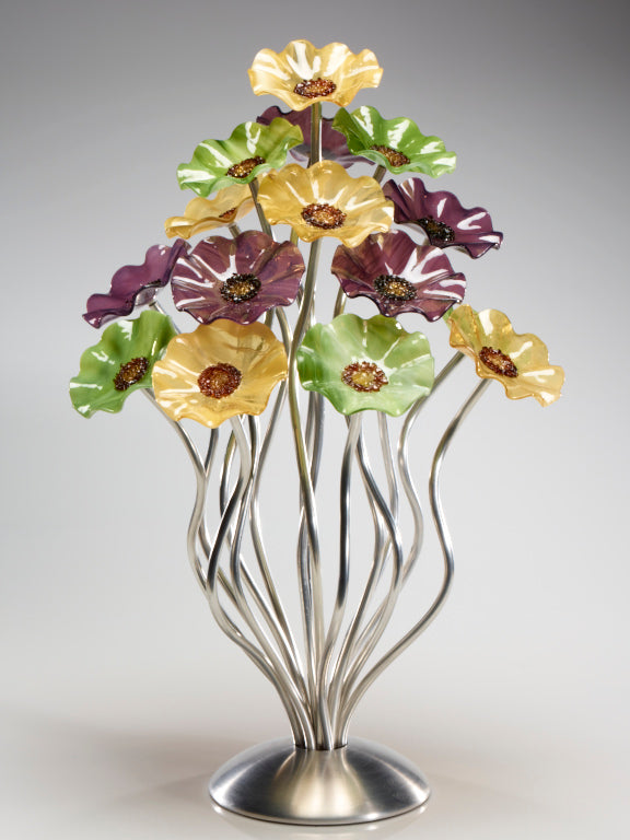 15 flower tree Aspen 182 - Glass Flowers by Scott Johnson