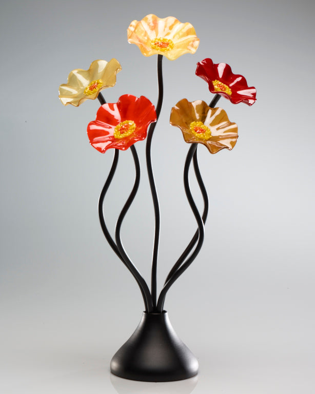 5 Flower Tuscany - Glass Flowers by Scott Johnson