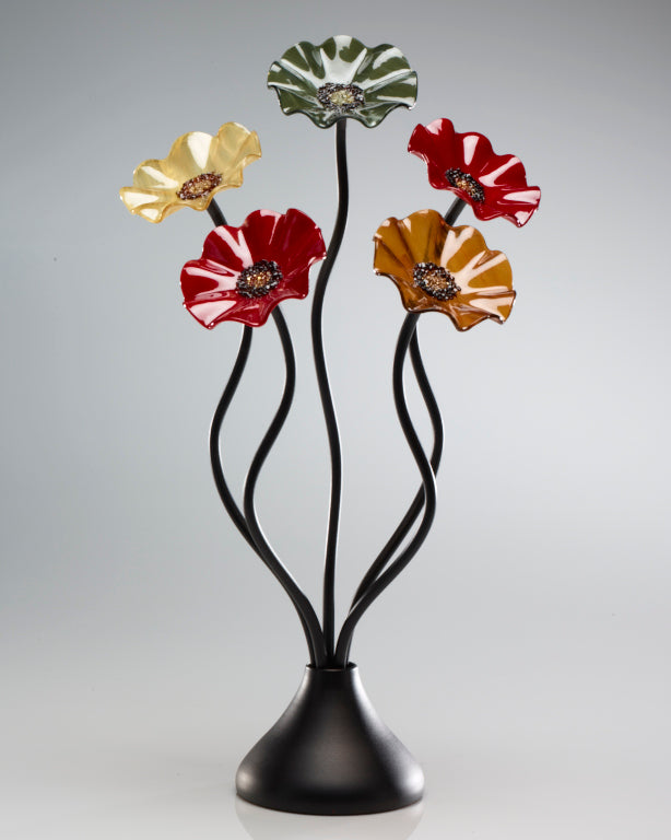 5 Flower Breckenridge - Glass Flowers by Scott Johnson