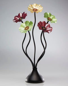 5 Flower Aspen 182 - Glass Flowers by Scott Johnson