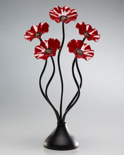 Load image into Gallery viewer, 5 Flower All Red - Glass Flowers by Scott Johnson