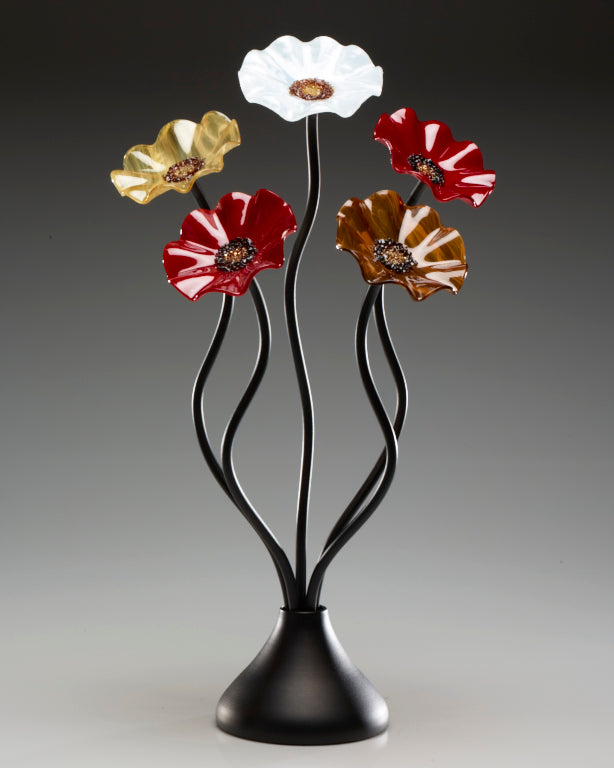Load image into Gallery viewer, 5 Flower Marilyn - Glass Flowers by Scott Johnson