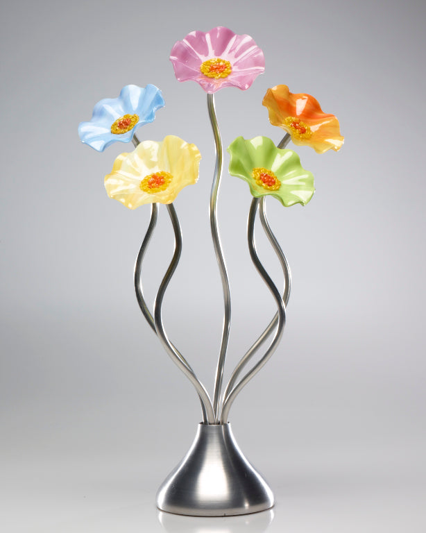 5 Flower Pastel - Glass Flowers by Scott Johnson