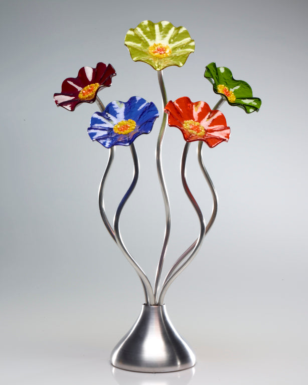 5 Flower Prism - Glass Flowers by Scott Johnson