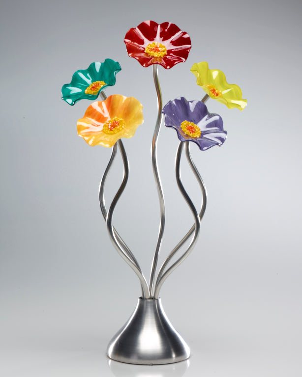 5 Flower Surprise - Glass Flowers by Scott Johnson