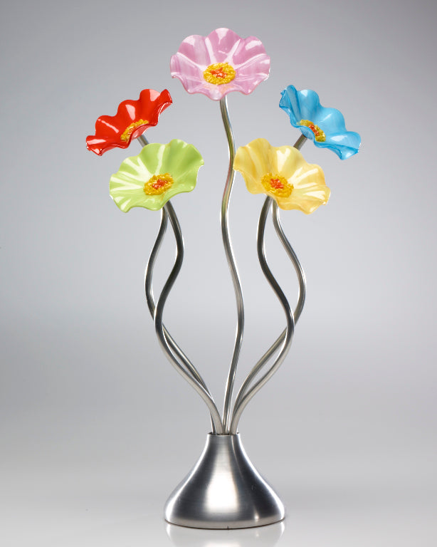 5 Flower Beach - Glass Flowers by Scott Johnson