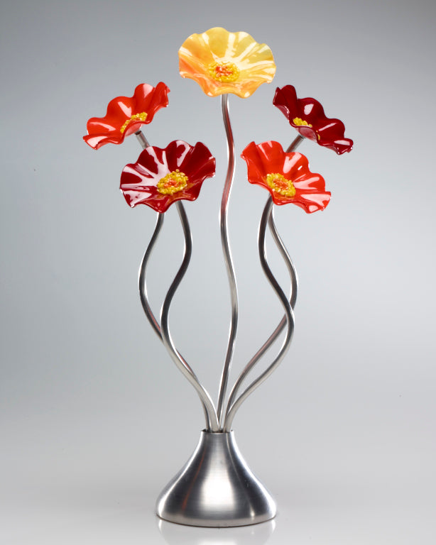5 Flower Autumn - Glass Flowers by Scott Johnson