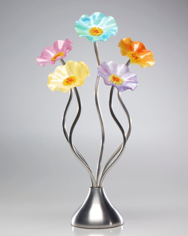 5 Flower Monsoon - Glass Flowers by Scott Johnson