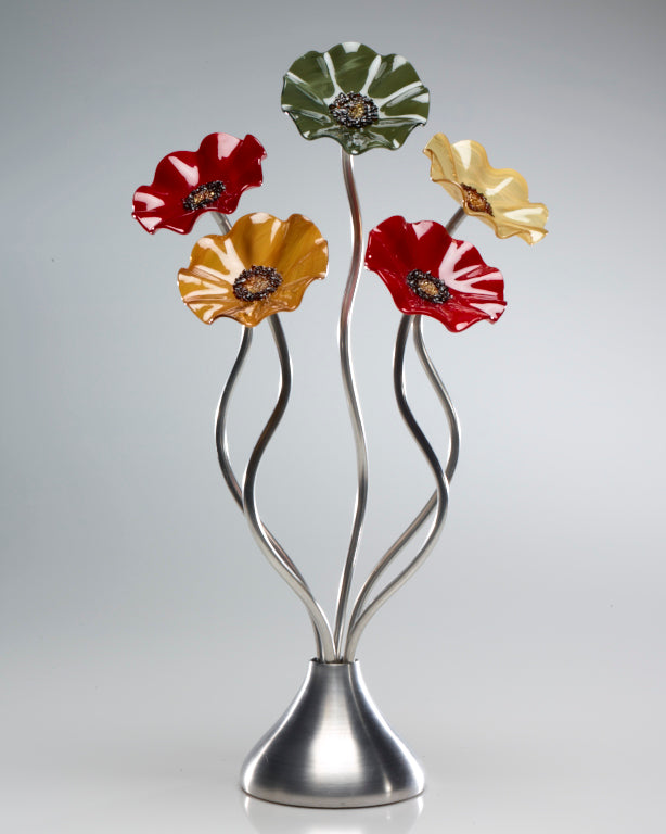 Load image into Gallery viewer, 5 Flower Breckenridge - Glass Flowers by Scott Johnson