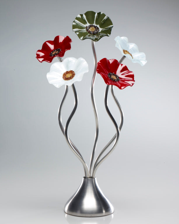 Load image into Gallery viewer, 5 Flower holiday - Glass Flowers by Scott Johnson