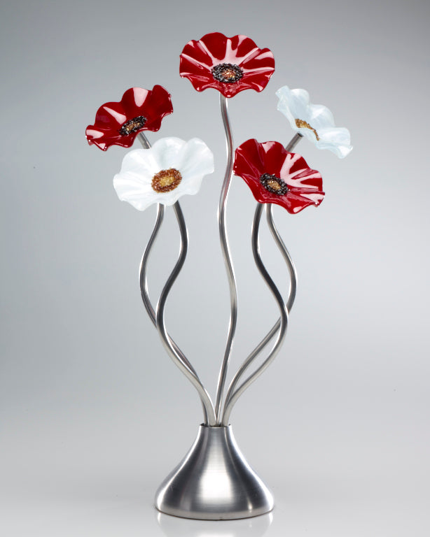 5 Flower Christmas - Glass Flowers by Scott Johnson