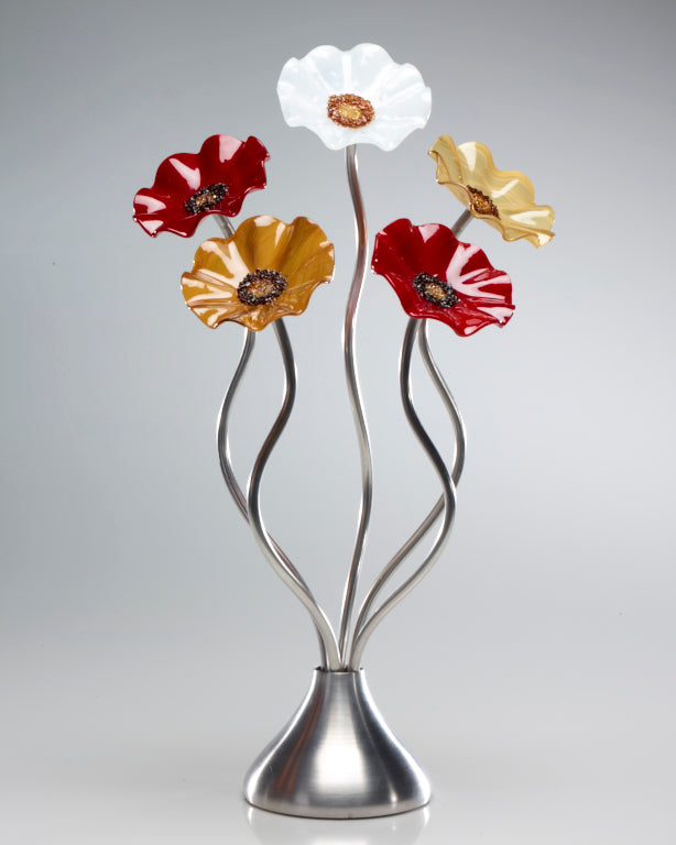 5 Flower Marilyn - Glass Flowers by Scott Johnson
