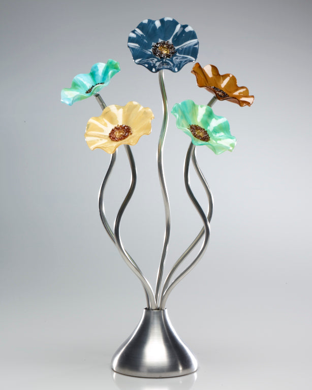 5 Flower Sundrella - Glass Flowers by Scott Johnson